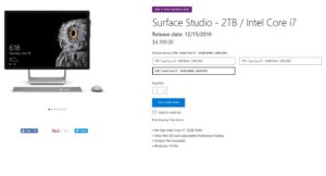 Buy Surface Studio from USA