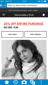 How to see and buy items at Abercrombie official US sites