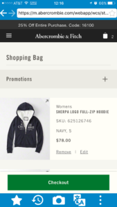 How to see and buy items at Abercrombie and Coach official US sites